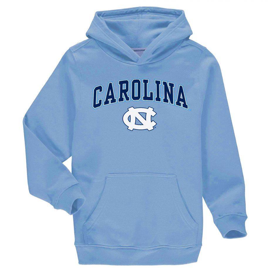 CAROLINA Fanatics Tar Heels Branded Blue Hoodies(front)