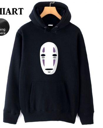 Ghost White Mask Men's Black Hoodie