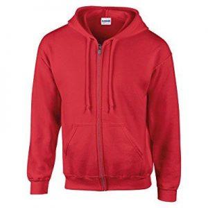 Gildan Men's Red Hoodie