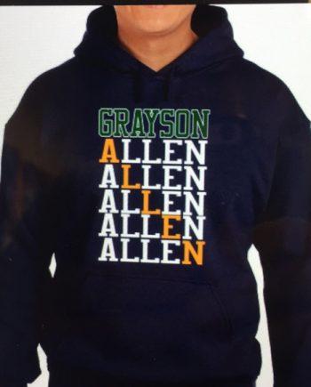Grayson Allen Pullover Black Hooded Sweatshirt(front)