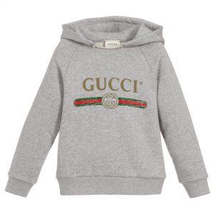 Gucci Grey Vintage Logo Hoodie