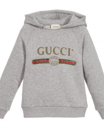 Gucci Classic Vintage Logo Hoodie (Grey)