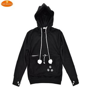 Cat Pouch Black Hoodie