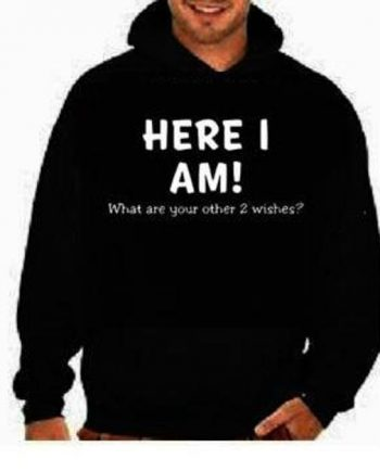 Here I am Funny Cool Black Funniest Hoodie (front)