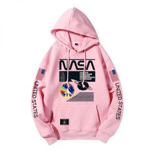 Hip Hop Boys Long Sleeve NASA Hoodie