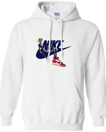 Jack Nike Pullover White Hoodie For Men