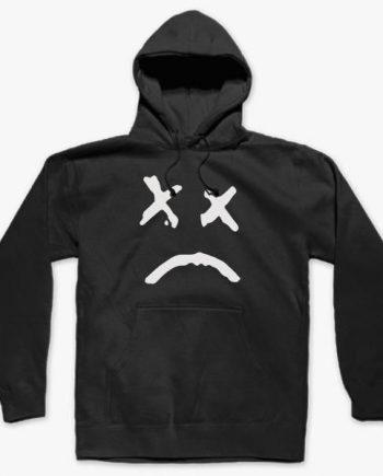 Lil Peep Men's Soft cotton Black Hoodie(front)