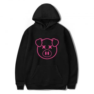 Lovely Shane Dawson Pink Pig Women Black Hoodie