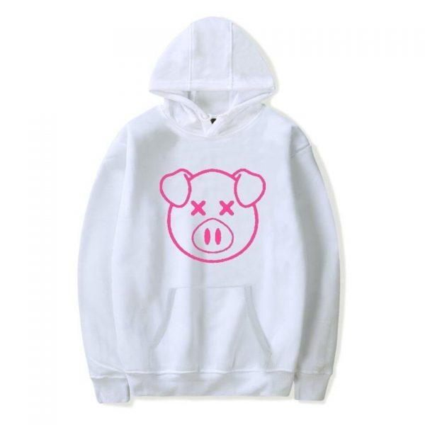 Lovely Shane Dawson Pink Pig Women White Hoodie
