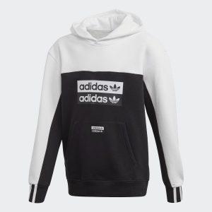 Adidas Boys Ryv Black and White Hoodie