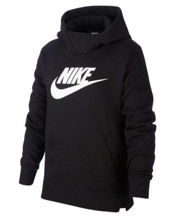 Nike Girls Sportswear Pullover Black Hoodie(front)