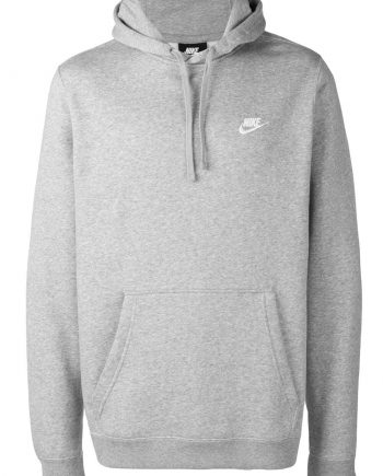 Nike Men's Embroidered Pullover Grey Hoodie