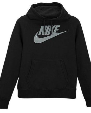 Nike Pullover Fleece Men's Black Hoodies(front)