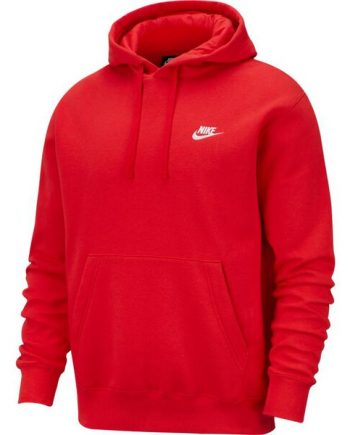Nike Sportswear Club Fleece Pullover Red Hoodie