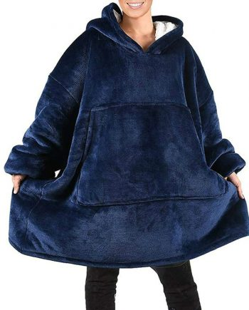 Comfy Blanket Soft & Warm Blue Hoodie(front)