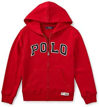 Polo Kids Full Zip Up Red Hoodie