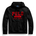 Polo Vintage Logo Pullover Black Hoodie