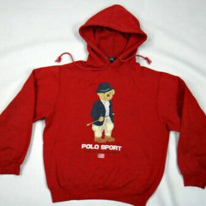 Polo teddy bear equestrian Red hoodies