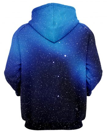 Cool blue and black Hoodie Printed Stars (front)