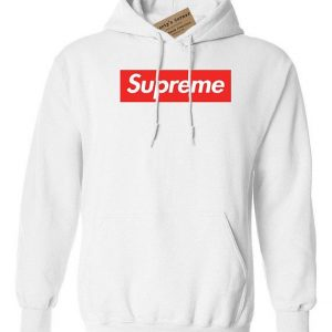 Supreme Men's White Hoodie