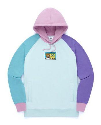 Teddy Fresh Color Block Hoodie