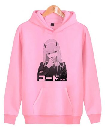 The Darling Anime Franxx Pullover Pink Hoodies