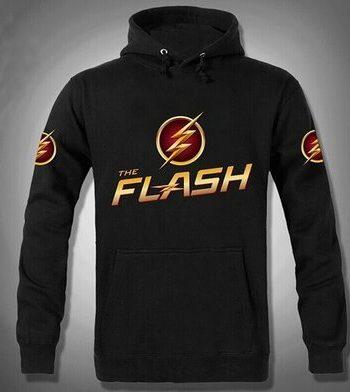 The Flash Allen Pullover Black Hoodie(front)