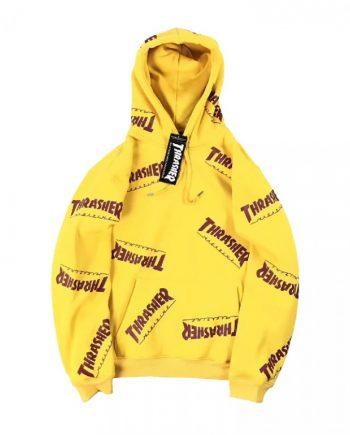 Thrasher Logo Yellow Hoodie