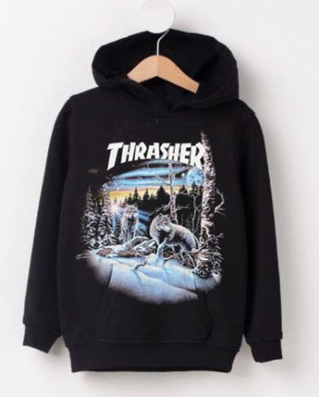 Thrasher Magazine 13 Wolves Black Hoodie