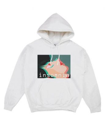 Insomnia - Faithless Lightweight White Anime Hoodie(Front)
