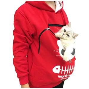 Winter Cat Pouch Hoodies