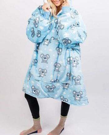 Wearable Winter Warm Thick Blanket Hoodie(front)