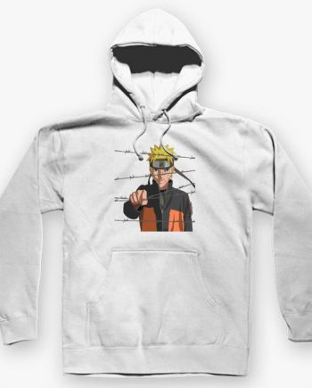 Cool Naruto white Hoodie For Men & Woman(front)