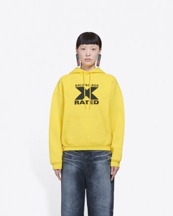 Yellow X Rated Small Fit Hoodie