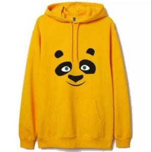 Yellow Printed Adult Hoodie