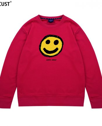 Tyler The Creator Smiley Anti Golf Pullover Hoodie ( Red )
