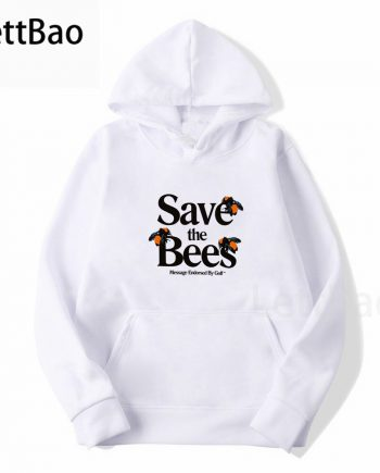 'Save the Bees' Tyler The Creator Unisex Pullover Hoodie ( White )