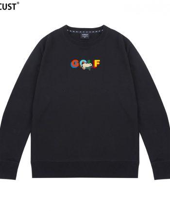 GOLF Printed Tyler The Creator Unisex Pullover Hoodie ( Black )