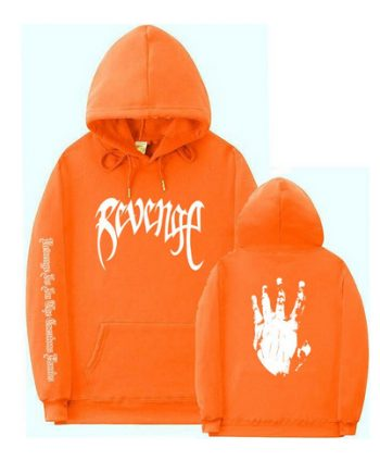 Revenge XXXtentacion Letter Printed Orange Hoodie