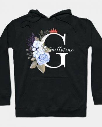 Death Grips Pretty Guillotine Floral Black Hoodie