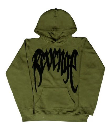 CHENILLE ARMY PATCH HOODIE FRENCH TERRY