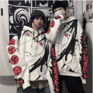 Anime Naruto Hoodies Streetwear Couple Winter Coat Fashion Loose Cartoon