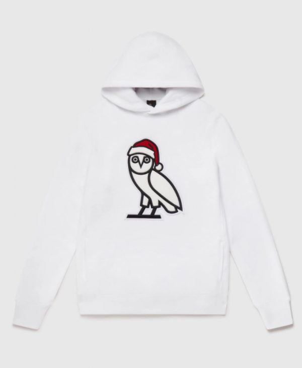 OVO HOLIDAY OWL COMBED COTTON HOODIE