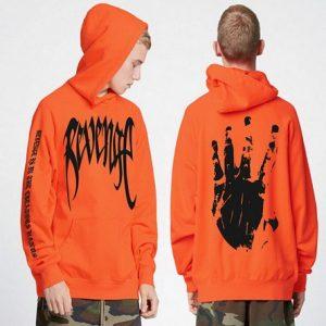 Revenge Letter Print Hoodie Sweatshirts