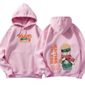 Harajuku Sweatshirt Naruto Hinata Couple wear Hoodies