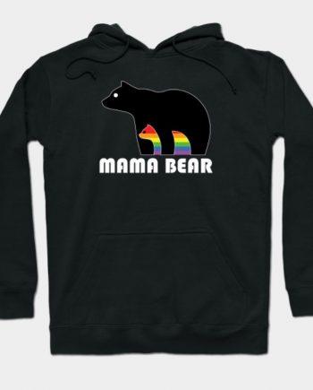 Mama Bear Cotton Pullover Black Hoodie