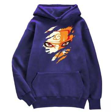 Japan Anime Printing Naruto Hoody Men Fashion Street Pullover Hoodies