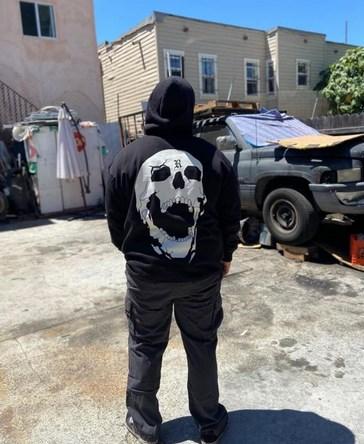 New luxury Unisex REVENGE SMOKE Skull Pullover Hoodies
