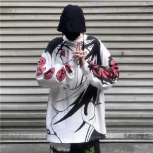 Autumn Anime Naruto Print Hoodies Streetwear Couple Matching