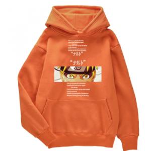 Anime Uzumaki Naruto Print Streetwear Warm Autumn Fleece Mens Hooded